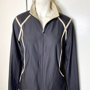 Xersion Black Gold Athletic zip Jacket M